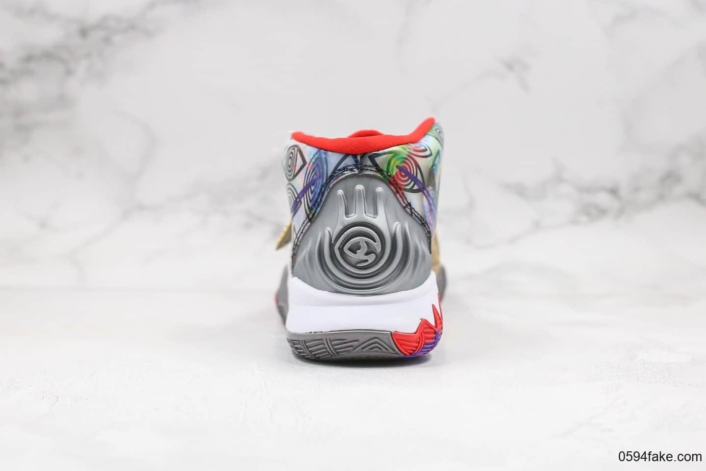 耐克Nike Kyrie 6 Pre-Heat Shangha纯原版本欧文6代休斯顿限定配色内置气垫支持实战 货号:CN9839-100