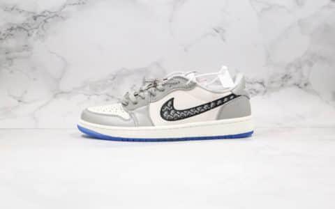 乔丹Air Jordan 1 Low x Dior纯原版本迪奥联名款低帮AJ1原厂头层鞋面材质原档案数据开发 货号:553668-998