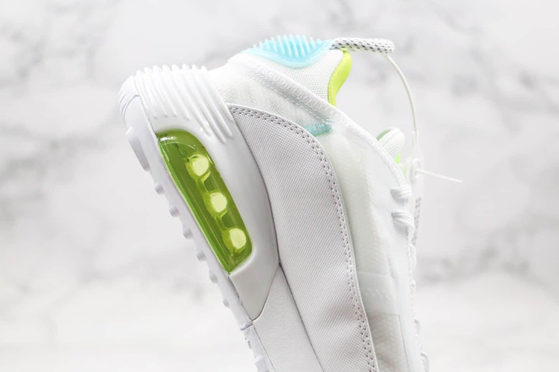 耐克Nike Air Vapormax 2090纯原版本王一博同款Max气垫鞋白绿蓝色内置真实气垫原盒原标 货号:CT7695-106