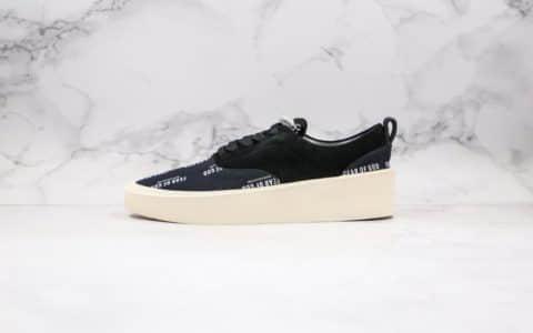 恐惧上帝Fear Of God 101 Low Top Sneaker纯原版本高街黑白字母厚底板鞋正确鞋面材质