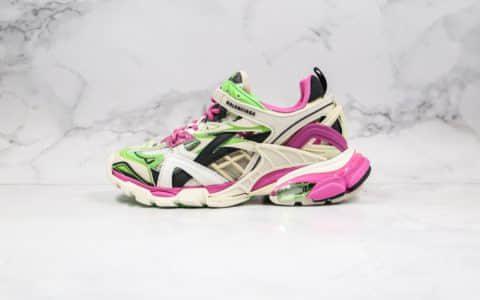 巴黎世家Balenciaga Track 4.0纯原版本复古老爹鞋灰粉色原盒原标原鞋开模一比一打造