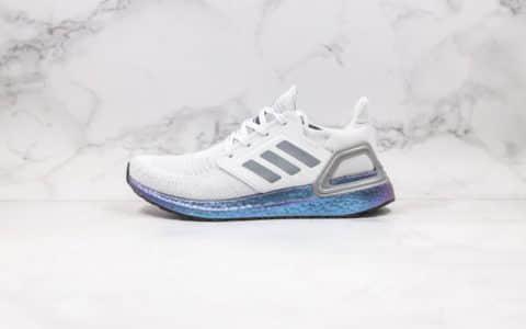 阿迪达斯Adidas Ultra Boost 20 Consortium纯原版本爆米花跑鞋UB6.0灰蓝色正确网纱鞋面材质原盒原标 货号:EG0755