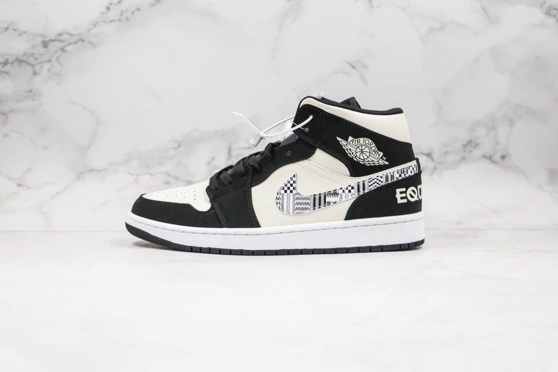 乔丹Air Jordan 1 Mid BHM EQUALITY纯原版本中帮AJ1黑人月图腾配色原楦头纸板 货号:852542-010