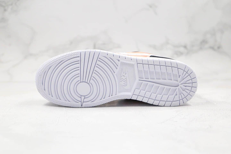 乔丹Air Jordan 1 Low纯原版本低帮AJ1玫瑰金色内置气垫原盒原标 货号:554723-090