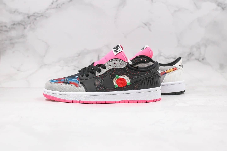 乔丹Air Jordan 1 Low纯原版本低帮AJ1农历新年中国年黑粉色鸳鸯配色原盒配件齐全