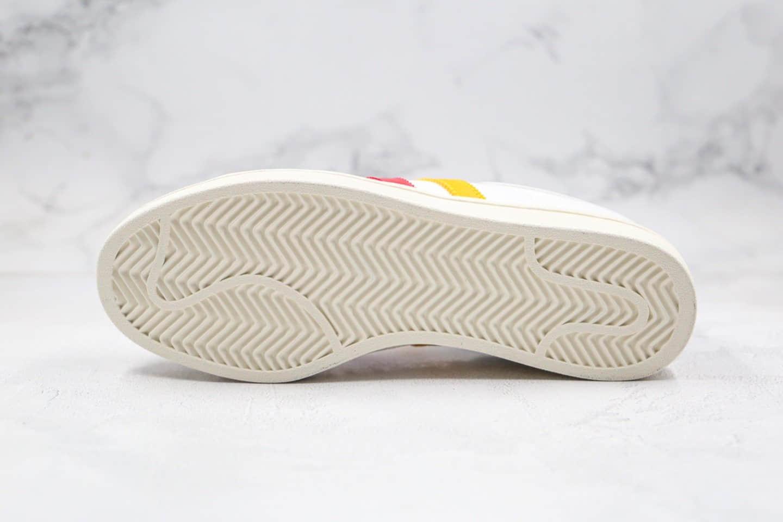 阿迪达斯adidas Originals Americana Low纯原版本三叶草低帮校园板鞋黄黑红色正确进口头层皮料 货号:EF2510