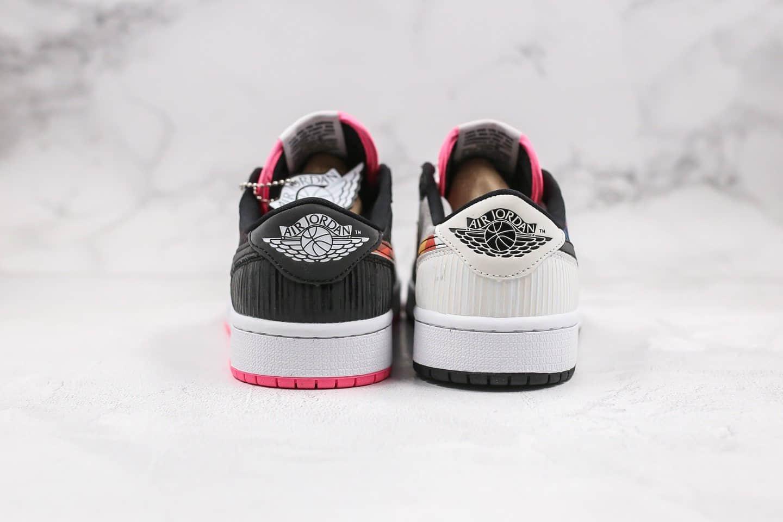 乔丹Air Jordan 1 Low纯原版本低帮AJ1农历新年中国年黑粉色鸳鸯配色原盒配件齐全 货号:CW0418-006