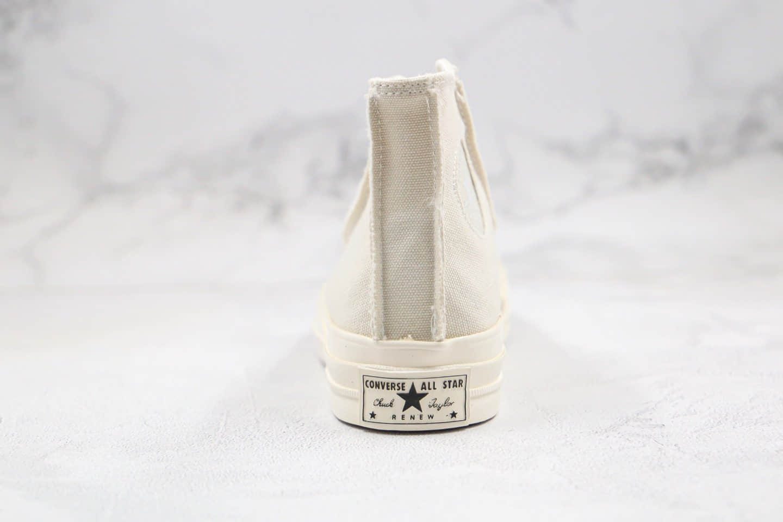 匡威Converse Chuck 1970s公司级版本高帮帆布鞋白色星标麻布奶油配色原厂硫化大底正确硅蓝软中底