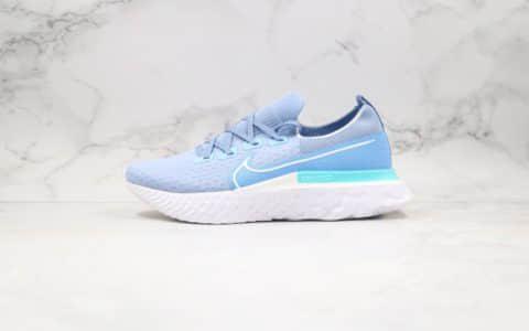 耐克Nike React Infinity Run Flyknit纯原版本瑞亚慢跑鞋蓝白色原厂瑞亚缓震大底区别市面通货版本 货号:CD4371-108