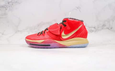 耐克Nike Kylie Trophies EP 2020纯原版本欧文6全明星钢铁侠红金色内置气垫原盒原标支持实战 货号:CD5028-900
