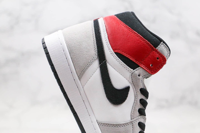 乔丹Air Jordan 1 Light Smoke Grey纯原版本高帮AJ1烟灰色正确后跟定型正确鞋面材质原盒原标 货号:555088-126