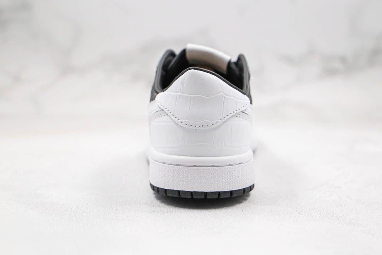 乔丹Air Jordan 1 Low纯原版本低帮AJ1黑白色阴阳太极蛇纹配色原楦头纸板打造 货号:555088-020