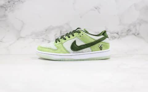耐克联名款SB DUNK丝绒绿色板鞋出货
