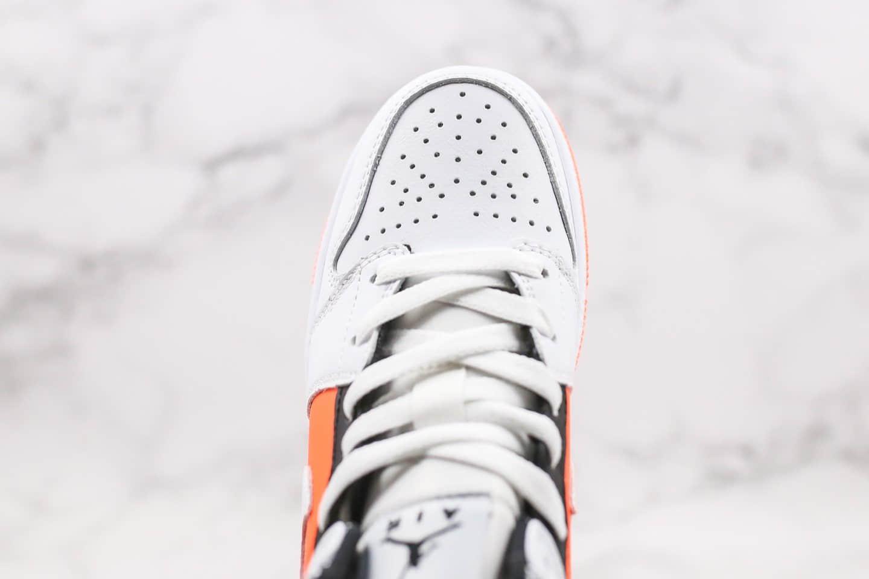 乔丹Air Jordan 1 Mid GS公司级版本中帮AJ1黄橙鸳鸯配色原盒原标原材料一比一打造 货号:554725-870