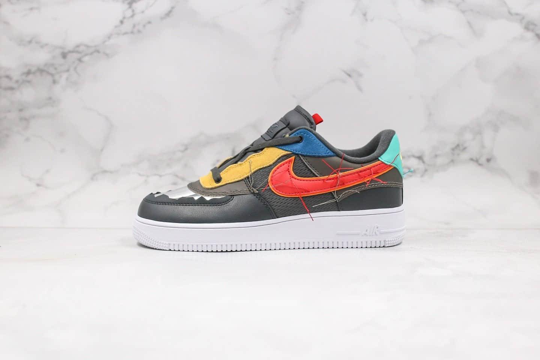 耐克Nike Air Force 1 Low BHM纯原版本低帮空军一号黑人月撞色配件齐全原盒原标 货