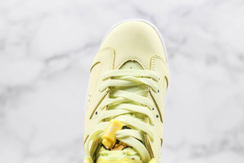 乔丹Air Jordan 6 GS Floral纯原版本花卉柠檬黄AJ6黄玫瑰区别市面通货版本首家实拍出货 货号:543390-800