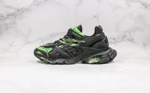 巴黎世家Balenciaga Track 4.0纯原版本复古老爹鞋4代黑绿色内置气垫原盒配件齐全