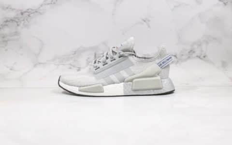 阿迪达斯Adidas NMD R-1 V2纯原版本爆米花NMD白灰色原楦头纸板打造正确鞋面材质 货号:FW5328