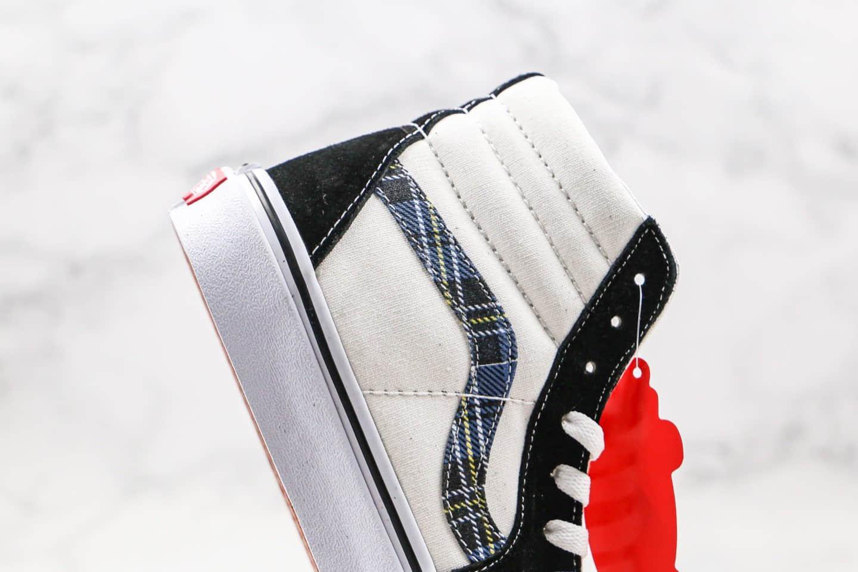 万斯Vans Sk8-Hi 2020款公司级版本高帮字母印花滑板图案黑白蓝色原厂硫化大底内置钢印 货号:VN0A391FTY9