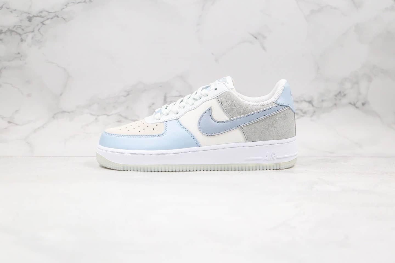 耐克Nike Air Force 1 07 LV8 2 Blue White纯原版本低帮空军一号冰蓝灰蓝色内置气垫原楦