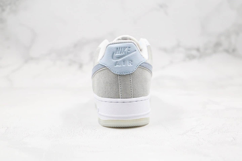 耐克Nike Air Force 1 07 LV8 2 Blue White纯原版本低帮空军一号冰蓝灰蓝色内置气垫原楦头纸板打造 货号:AO2425-400