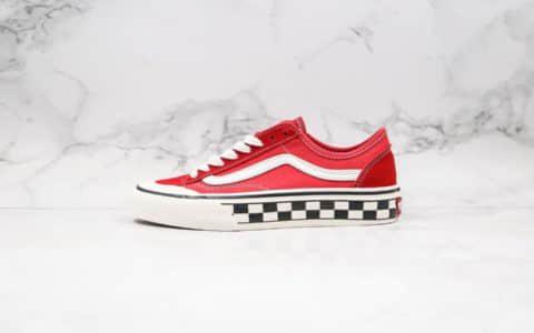 万斯Vans Style 36 Cecon SF公司级版本小红书爆款板鞋半月包头红色棋盘格子原厂硫化