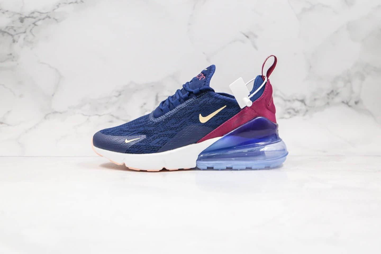耐克Nike Air Max 270公司级版本气垫跑鞋蓝紫