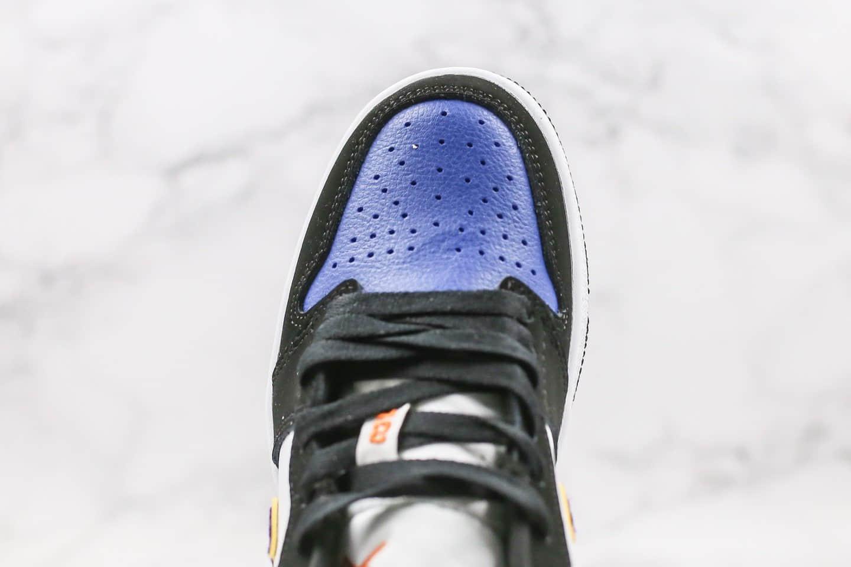 乔丹Air Jordan 1 Low纯原版本低帮AJ1黑紫蓝色原盒原标正确后跟定型 货号:CJ9216-051