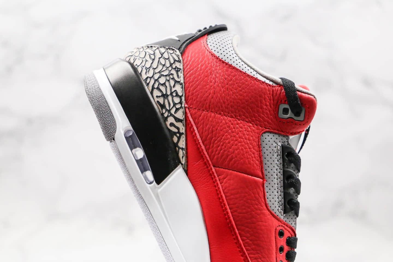 乔丹Air Jordan 3 SE Red Cement纯原版本红水泥配色爆裂纹AJ3正确皮革鞋面原厂后跟定型 货号:CK5692-600