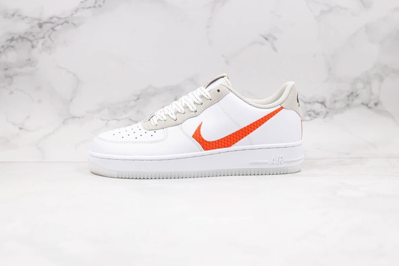 耐克Nike Air Force 1 Low LV8 White Orange纯原版本低帮空军一号白橙大钩子原档案数据开发内置气垫 货号:CD0888-100