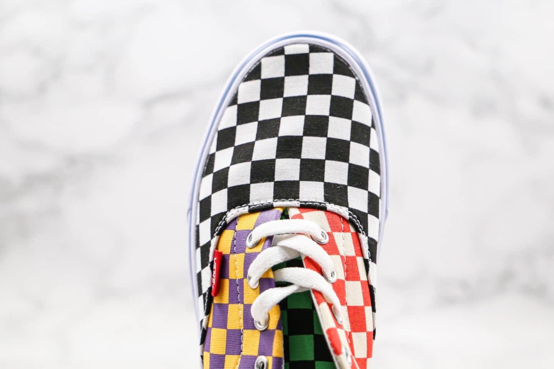 万斯VANS Sneakersnstuff公司级版本低帮硫化板鞋棋盘格鸳鸯拼色海滩撞色黄红色原盒原标