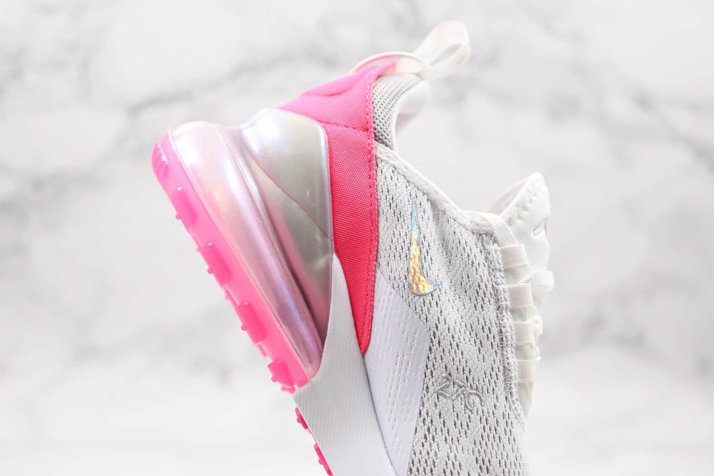 耐克Nike Air Max 270气垫鞋白粉色纯原版本内置真小潘气垫原档案数据开发 货号:CI1963-191