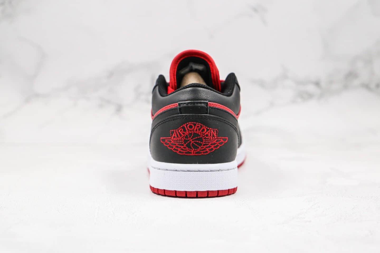 乔丹Air Jordan 1 Low纯原版本低帮AJ1黑红禁穿正确LOGO刺绣原盒原标 货号:553558-610