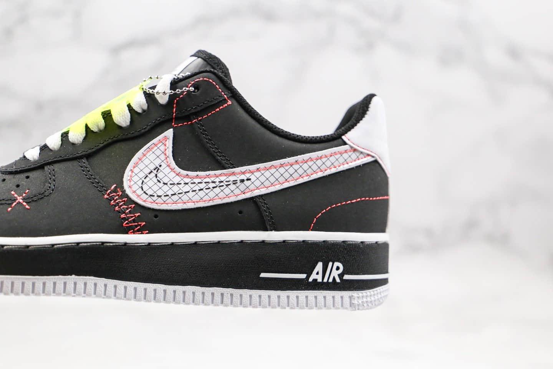 耐克Nike Air Force 1'07 Paranoise纯原版本低帮空军一号权志龙二代黑红手稿配色内置气垫原鞋开发 货号:CU6646-001