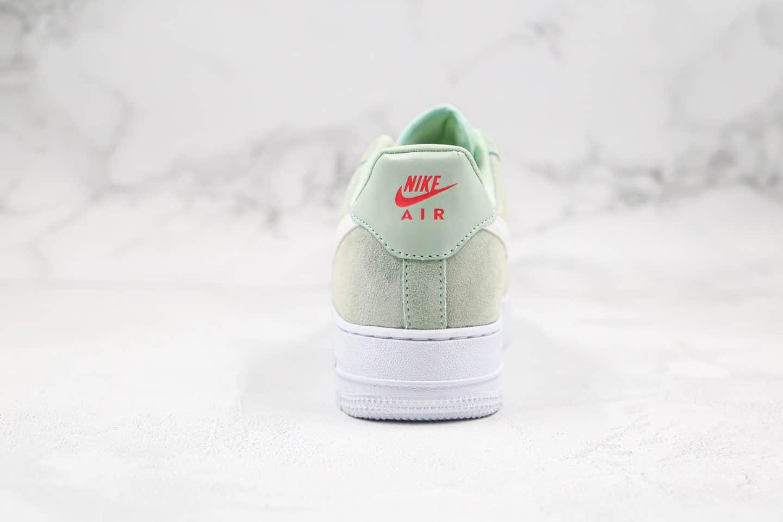 耐克Nike Air Force 1 Frost Green纯原版本低帮空军一号薄荷绿霜淡草绿色3M反光勾内置气垫原盒原标 货号:CV3026-300