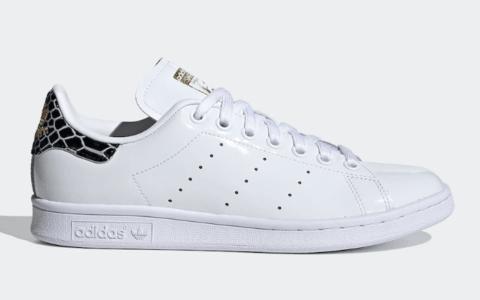 漆皮鞋身+狂野蛇纹!全新adidas Stan Smith现已发售! 货号:FV3422