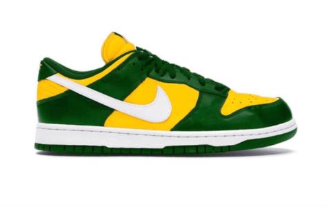 """酷似20年前的""""巴西""""配色!全新Nike Dunk Low SP今夏登场! 货号:CU1727-700"""
