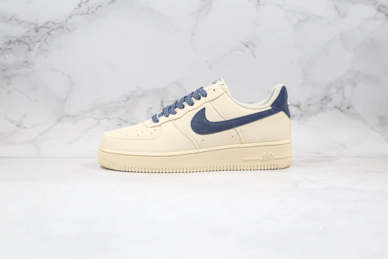 耐克Nike Air Force 1 Low '07纯原版本低帮空军一号米白蓝色3M反光满天星帆布板鞋原楦头纸板打造正确原装灰盒 货号:315122-109