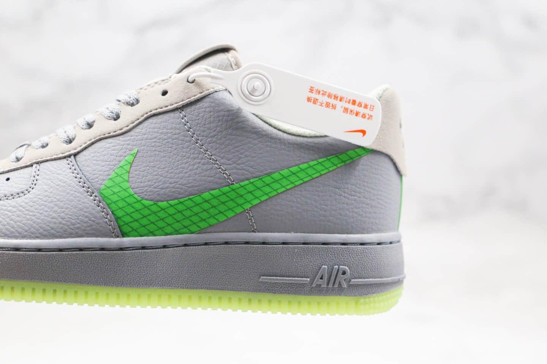 耐克Nike Air Force 1 LV8 Grey Green纯原版本低帮空军一号灰绿色格子内置气垫原楦头纸板打造 货号:CD0888-002