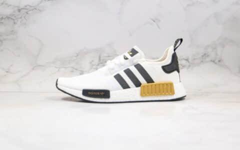 阿迪达斯Adidas Nmd R1纯原版本爆米花跑鞋白金黑色拼色正确Boost爆米花大底区别市面通货版本 货号:EG5662