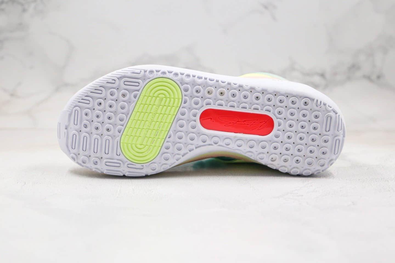 耐克Nike KD 13 Chill纯原版本杜兰特13代篮球鞋渐变绿粉色田园风扎染糖果色内置气垫支持实战 货号:CI9948-602