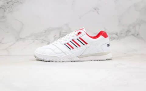 阿迪达斯adidas AR trainer纯原版本三道杠校园板鞋白红色正确头层皮革鞋面原鞋开模一比一打造 货号:EF5945