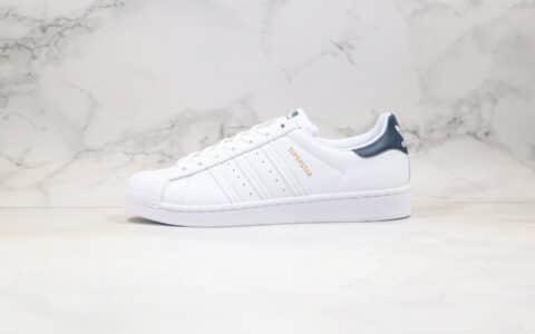 阿迪达斯Adidas Originals Superstar纯原版本三叶草金标贝壳头白藏蓝色原盒原标原档案数据开发 货号:FX4280