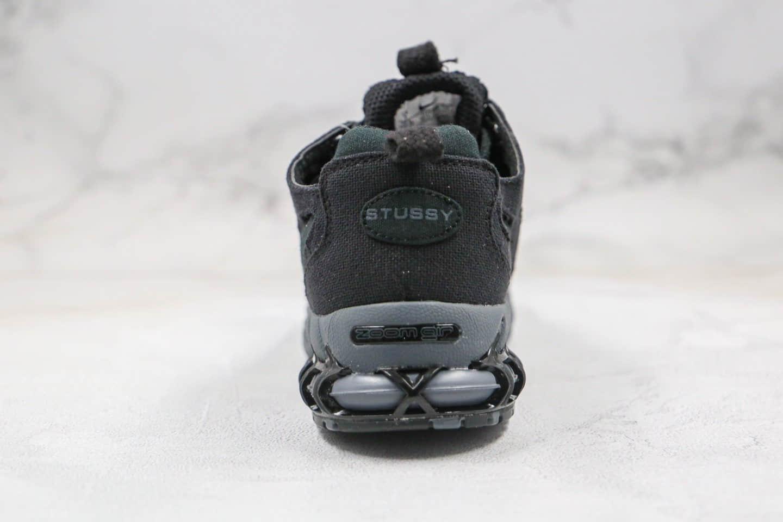 耐克Nike Air Zoom Spiridon Caged 2 x Stussy纯原版本斯图西联名款复古气垫鞋黑色原鞋开模一比一打造 货号:CQ5486-001