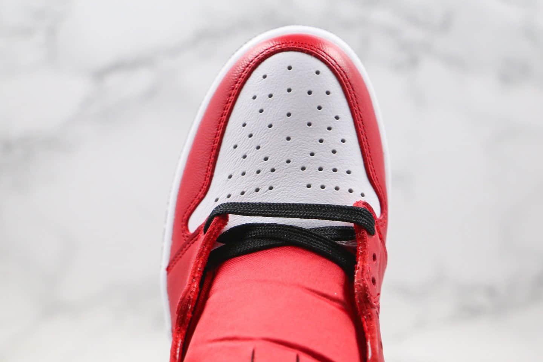 乔丹Air Jordan 1 WMNS Satin Snake纯原版本高帮黑红色丝绸蛇纹芝加哥AJ1正确后跟定型 货号:CD0461-601