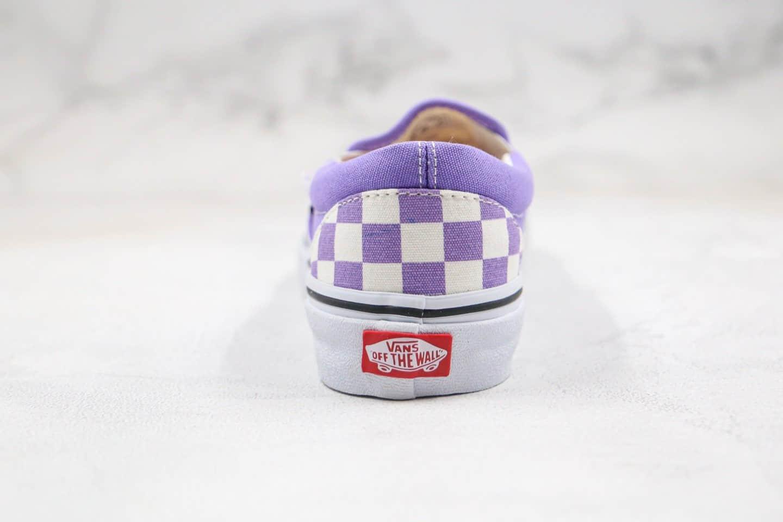 万斯Vans Authentic公司级版本棋盘格一脚蹬帆布鞋香芋紫色原楦开发正确硫化版本