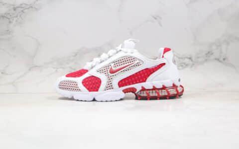 耐克Stussy x Nike Air Zoom Spiridon Cage 2纯原版本斯图西联名白红色原楦原纸版开发区别市面先行版本 货号:CD3613-600