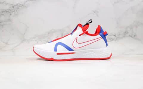 耐克Nike PG 4 EP纯原版本保罗乔治4代篮球鞋蓝红色原楦开发全掌气垫 货号:CD5082-101