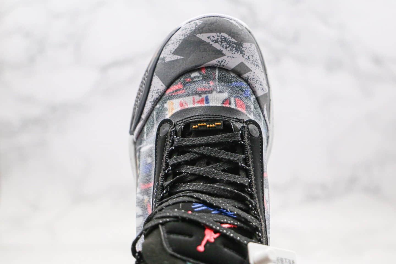 乔丹Air Jordan 34 PF纯原版本黑灰爆裂纹AJ34篮球鞋内置气垫正确两侧防滑翻原盒原标 货号:CZ7745-008