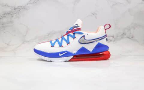 """耐克Nike LeBron 17 Low"""" Tune Squad""""纯原版本詹姆斯17代低帮大灌篮兔八哥白红蓝色原楦开发全码出货 货号:CD5007-100"""